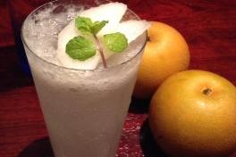 写真:デートにおすすめ…和梨のフレッシュフルーツカクテル